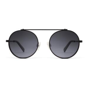 Gafas de sol, negras en forma redonda.