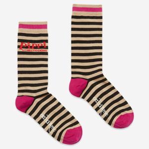 Calcetines de algodón con rayas. Talla única.