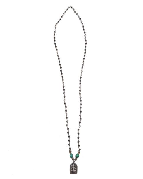 Collar de plata con turquesas y colgante de mini Buda.