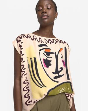 camiseta abstracta sin mangas