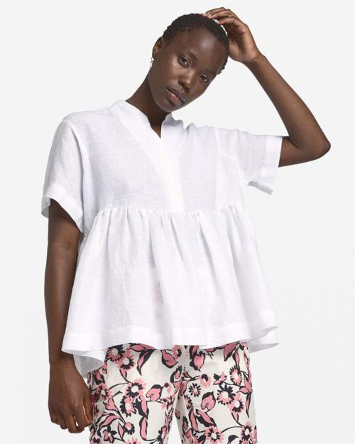 camisa blanca lino