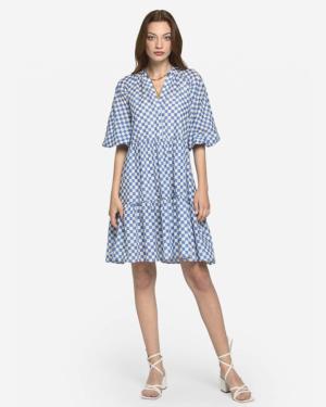vestido verano corto azul