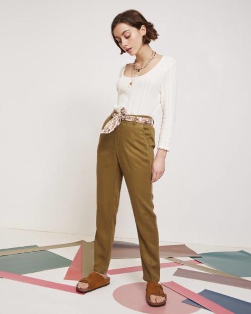 pantalón chino color canela