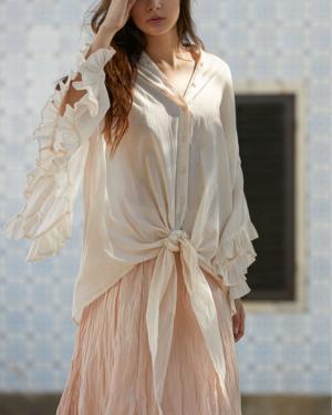 blusa elegante cruda